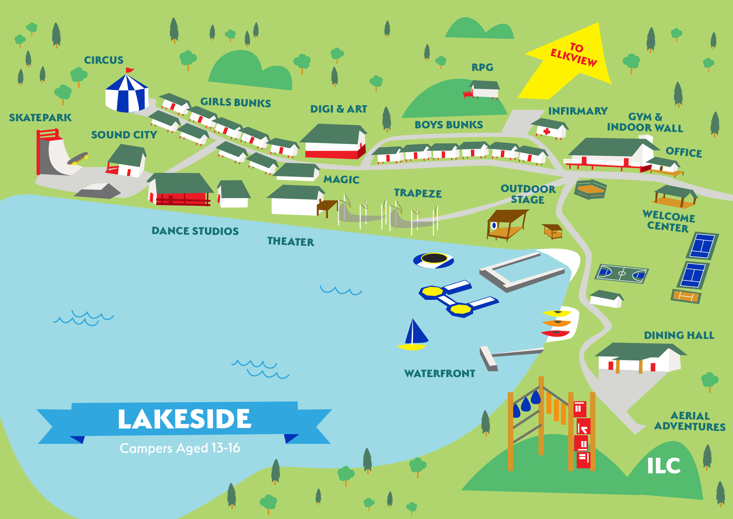 Map of Lakeside part of ILC campus